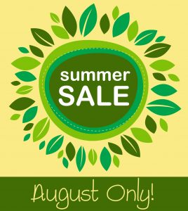 August Book Sale and Giveaway…